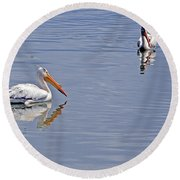 Pelican Mates Round Beach Towel