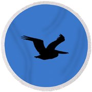 Pelican Profile .png Round Beach Towel