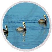 Pelican Racers Round Beach Towel