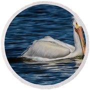 Pelican Wake Round Beach Towel