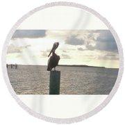 Pelican Zen Round Beach Towel