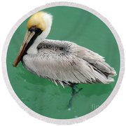 Pelican's Cove Round Beach Towel