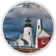 Pemaquid Point Lighthouse 4821 Round Beach Towel