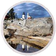 Pemaquid Reflection Round Beach Towel