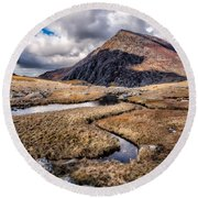Pen Yr Ole Wen Mountain Round Beach Towel