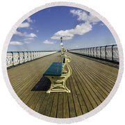 Penarth Pier 9 Round Beach Towel