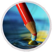 Pencil Drip Round Beach Towel