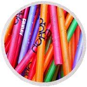 Pencils Round Beach Towel