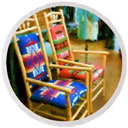 Pendleton Chairs Round Beach Towel