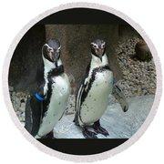 Penguin Duo Round Beach Towel