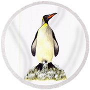 Penguin Round Beach Towel