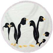 Penguins  -2 Round Beach Towel