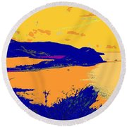 Peninsula Orange Round Beach Towel