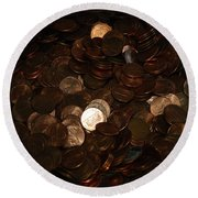 Pennies Round Beach Towel