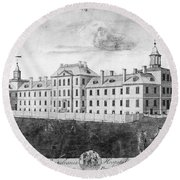 Pennsylvania Hospital, 1755 Round Beach Towel