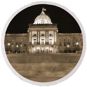 Pennsylvania State Capitol Round Beach Towel