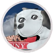 Penny Dog Food Sign 3 Round Beach Towel