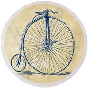 Penny-farthing 1867 High Wheeler Bicycle Vintage Round Beach Towel