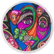 Penny For Your Thoughts Round Beach Towel