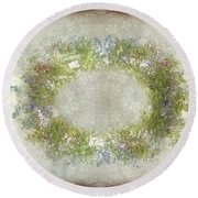 Penny Postcard Rustic Round Beach Towel
