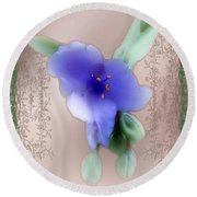 Penny Postcard Wildflower Round Beach Towel