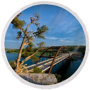 Pennybacker Bridge 2 Round Beach Towel