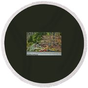 Pennyrile Park Canoes Round Beach Towel