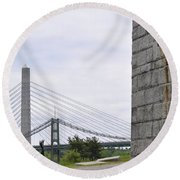 Penobscot Narrows Round Beach Towel