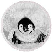 Penquin Chick Round Beach Towel
