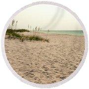 Pensacola Beach 2 Panorama - Pensacola Florida Round Beach Towel