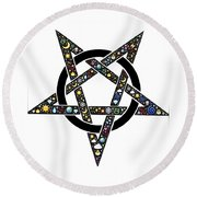 Pentacle Round Beach Towel