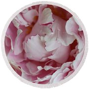 Peony Close Up Round Beach Towel