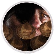 People In The Box Round Beach Towel