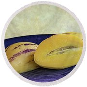Pepino Melon Round Beach Towel