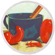 Pepper Harvest Round Beach Towel