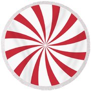 Peppermint Swirl Round Beach Towel