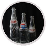 Pepsi Bottles Round Beach Towel