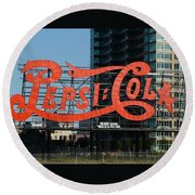 Pepsi-cola Round Beach Towel