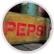 Pepsi Crate Round Beach Towel