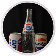 Pepsi From Around The World Round Beach Towel