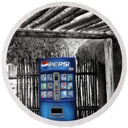 Pepsi Generation Palm Springs Round Beach Towel