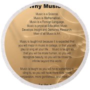 Percussion And Drums Why Music Picture Or Poster 4826.02 Round Beach Towel