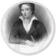 Percy Shelley (1792-1822) Round Beach Towel