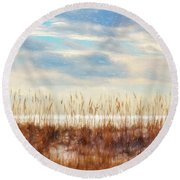 Perdido Painted  Round Beach Towel