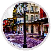 Pere Antoine Alley - New Orleans Round Beach Towel