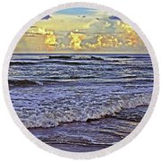 Perfect Beach Evening No.3 Round Beach Towel