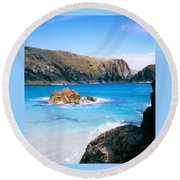 Perfect Blue Water Round Beach Towel