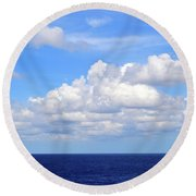 Perfect Clouds Round Beach Towel