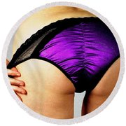 Perfect In Purple Round Beach Towel
