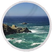 Perfect Mix Of Blue And Green Round Beach Towel